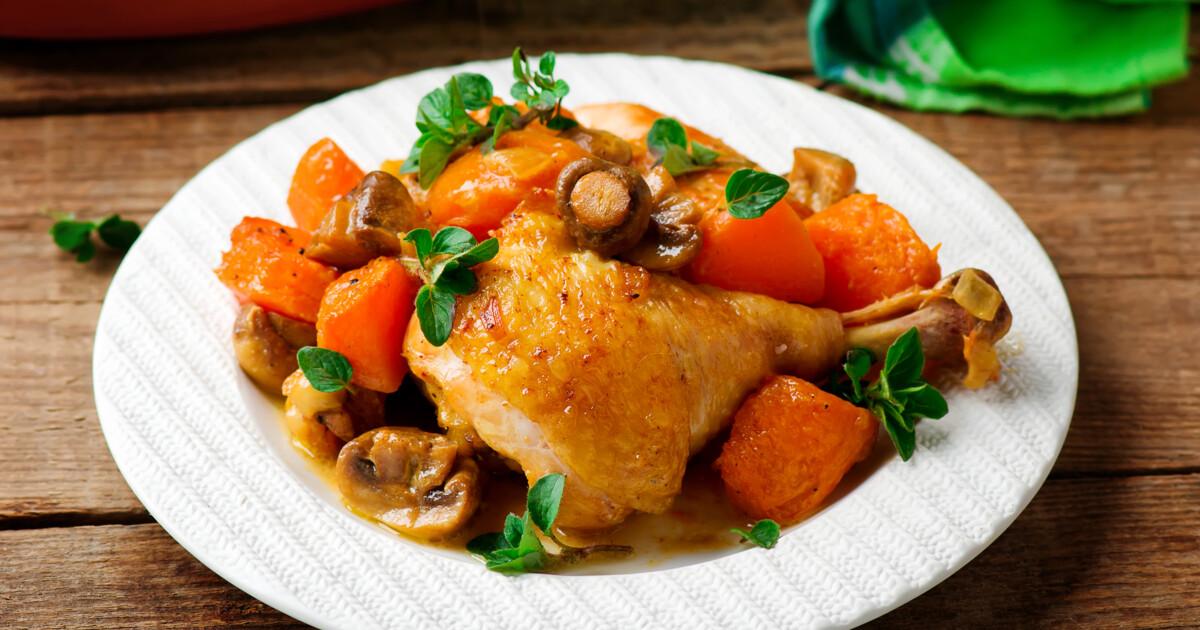 курица с грибами с подливкой рецепт