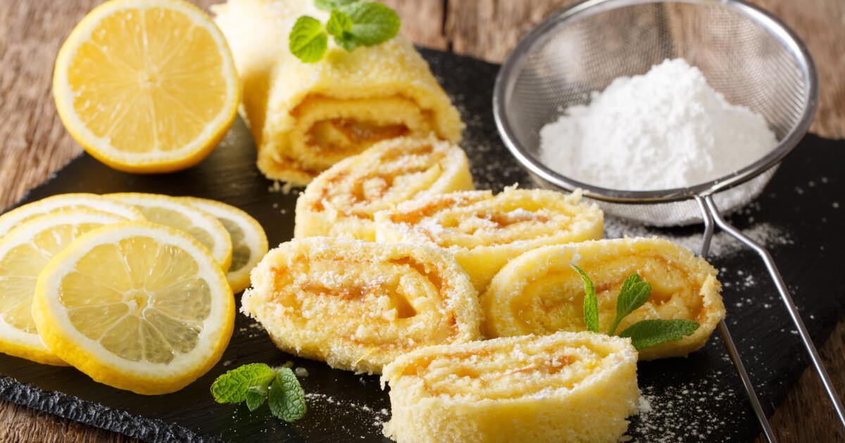 лимонный рулет рецепт с фото
