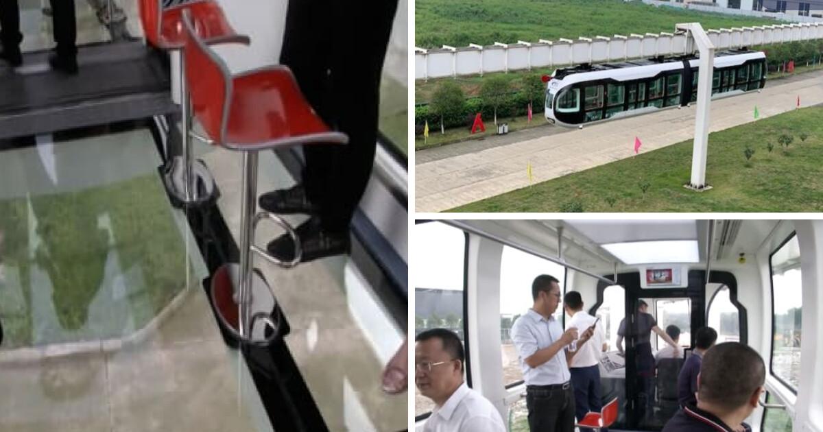 Работает на зеленой энергии. Китай запустил первый в мире подвесной поезд  со стеклянным полом - Новости транспорта | Сегодня