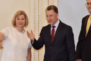 Ирина Геращенко и Курт Волкер