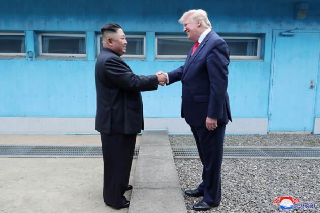 Ким Чен Ын и Дональд Трамп. Фото: KCNA via REUTERS