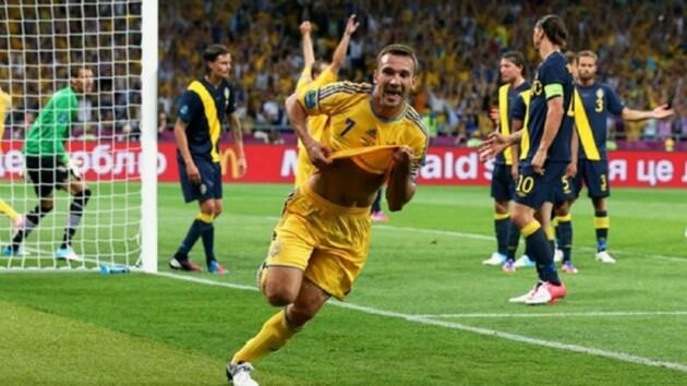 Шева дважды забил шведам на Евро-2012