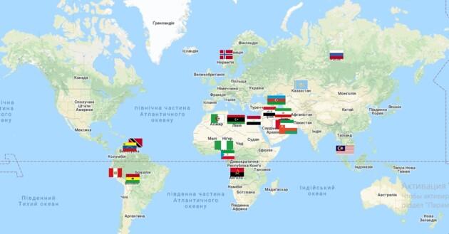 Форум стран-экспортеров газа. Постоянные члены и наблюдатели