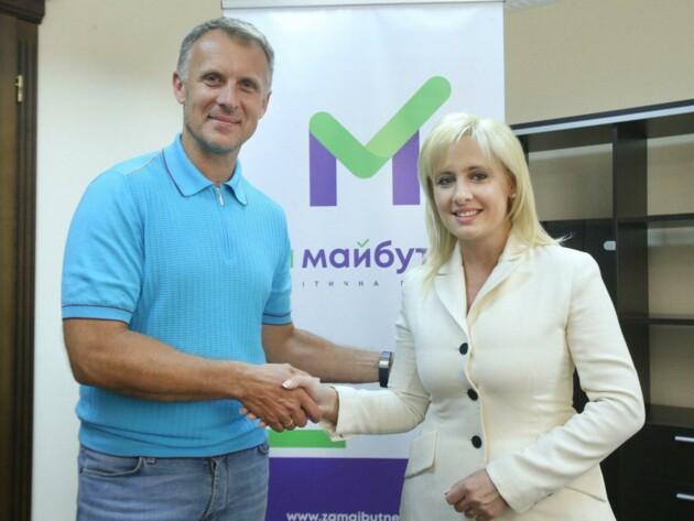 Заместитель председателя Аграрной партии Украины Инна Костыря и координатор избирательного штаба партии