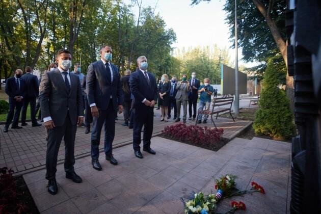 Президент Владимир Зеленский с замглавы Госдепа Стивеном Биганом