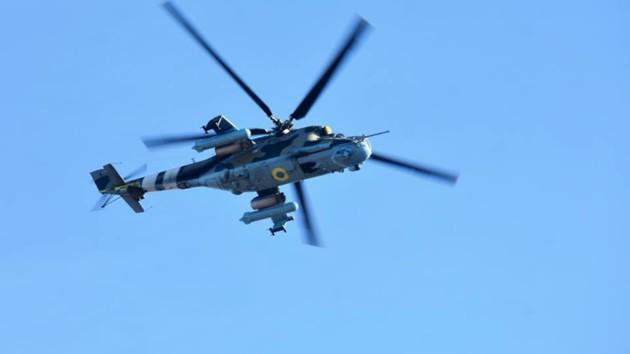 Во Львовской области на военном аэродроме разбился вертолет