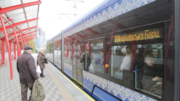 Движение скоростного трамвая на Борщаговке в Киеве восстановят с 30 сентября