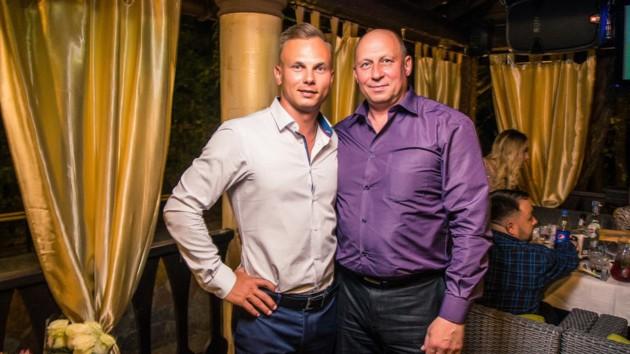 Александр Абраменко с отцом Владимиром