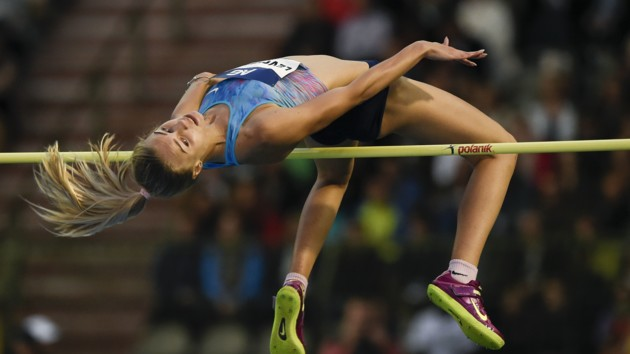 Прыгунья в высоту Юлия Левченко