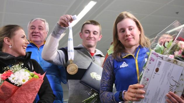 Дмитрий Пидручный хвастается медалью