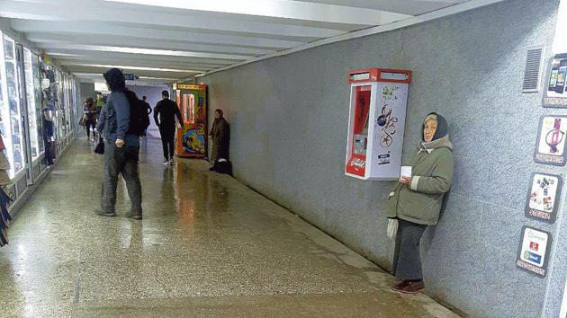 Переход у ж/д вокзала. Место, где часто просят милостыню. Фото:В. Борисенко