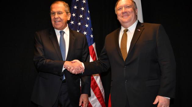 Сергей Лавров и Майк Помпео. Фото: REUTERS/Mandel Ngan