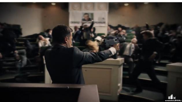 Скриншот из видео, который использовала партия