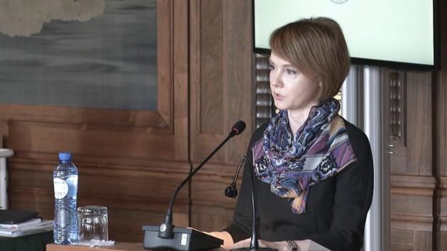 Елена Зеркаль на слушаниях по нарушению Россией Конвенции ООН о морском праве. Фото: twitter.com/MFA_Ukraine