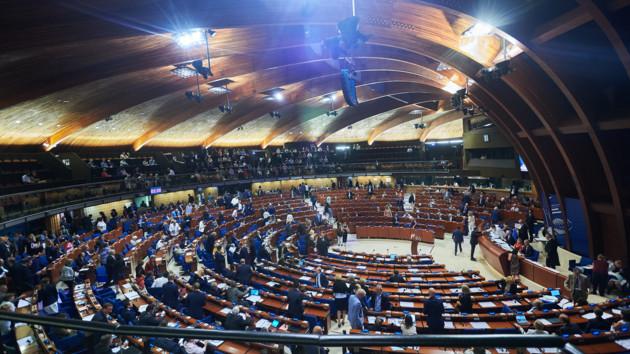 Зал засідань ПАРЄ в Страсбурзі