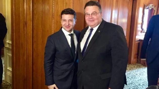Владимир Зеленский и Линас Линкявичюс. twitter.com/LinkeviciusL