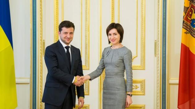 Фото: Зеленский и Санду. Фото: facebook.com/maia.sandu