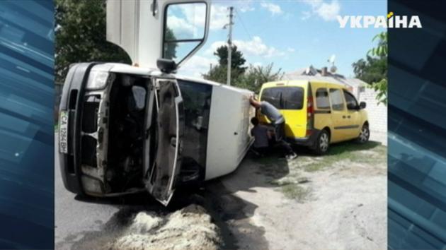 В Черкассах произошло жуткое тройное ДТП: есть пострадавший