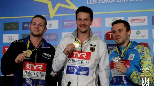 Украина завоевала третью медаль на домашнем чемпионате Европы по прыжкам в воду