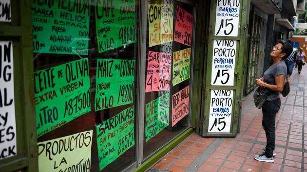 Гиперинфляция сохраняется: цены в Венесуэле подскочили на 1600%