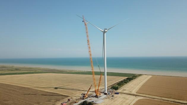 На Орловской ВЭС установили половину ветротурбин