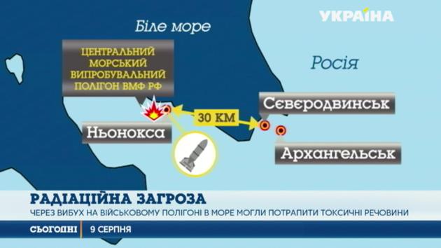 Из-за взрыва на российском полигоне в Белое море могли попасть токсические вещества