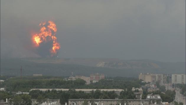 Пожар на военном складе в России потушили, стало известно число пострадавших