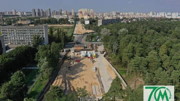 Киевское метро показало новые фото строительства подземки на Виноградарь