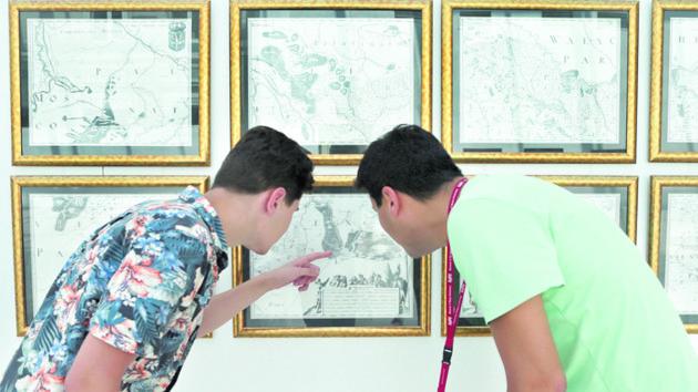 В Киеве открылась выставка уникальных копий карт Украины XV-XVIII веков: фото