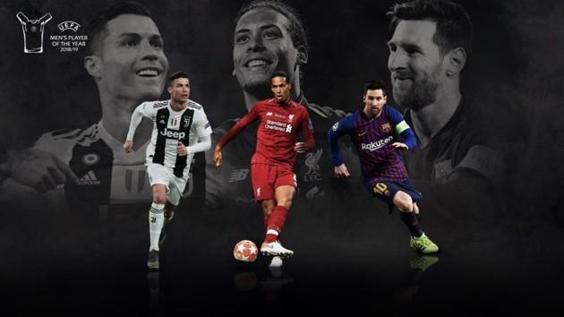 Названа тройка претендентов на награду Лучшему футболисту сезона от УЕФА