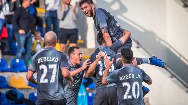 Украинец оформил дубль и вывел свою команду в следующий раунд Лиги Европы
