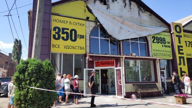 Смертельный пожар в Одессе: по документам сгоревший отель числился складом