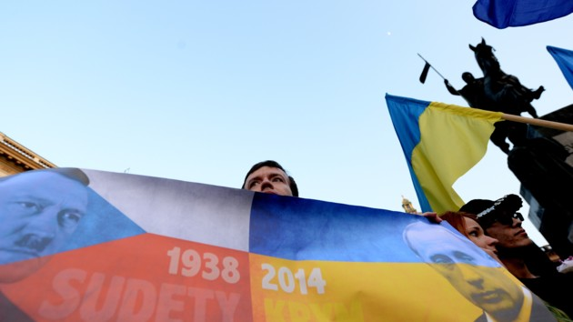 Россияне вышли в Москве на пикеты в поддержку Украины