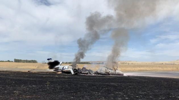 Взлетел, загорелся и рухнул: в Калифорнии разбился самолет