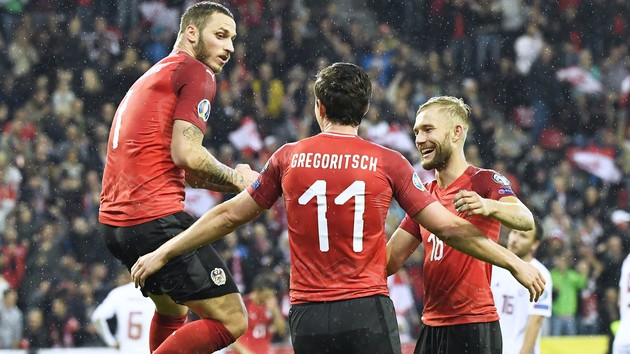 Австрия забила шесть мячей Латвии: обзор матча отбора на Евро-2020