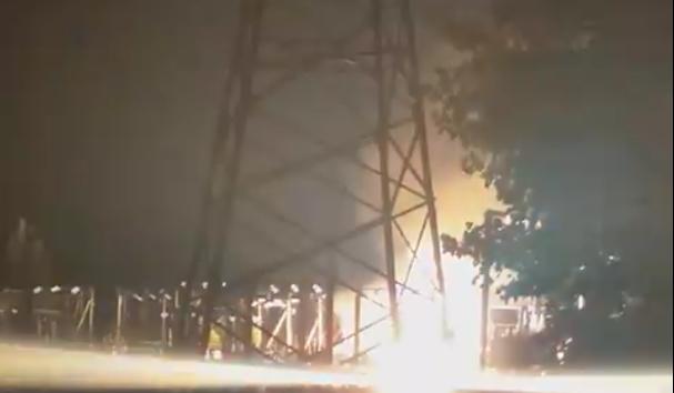 В курортном городе в Запорожской области горела электроподстанция: фото и видео