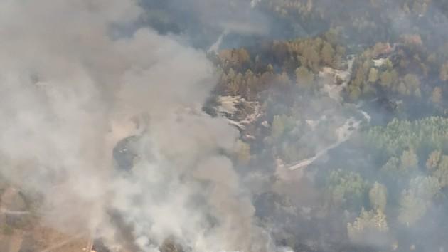 В Черниговской области локализовали масштабный пожар на военном полигоне