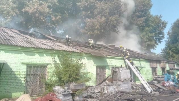 Масштабный пожар на складе в Киеве: спасатели показали фото