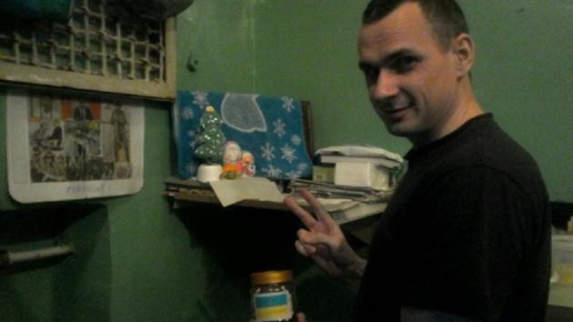 Сенцов показал единственный снимок, сделанный в тюрьме: повезло передать своим