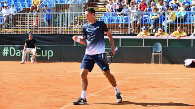 Стаховский совершил подвиг в матче с венгром, сохранив интригу в Кубке Дэвиса