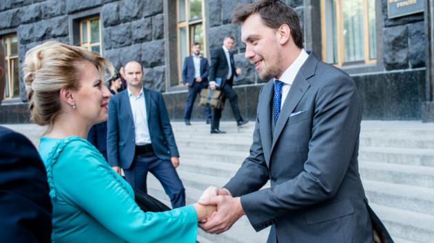 Гончарук встретился с президентом Словакии: о чем говорили