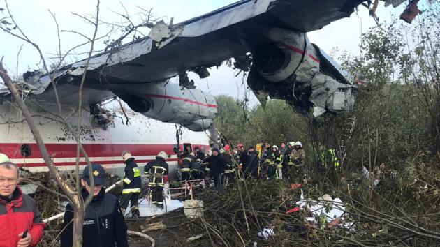 Крушение Ан-12 возле Львова: хроника спасательной операции, фото и видео