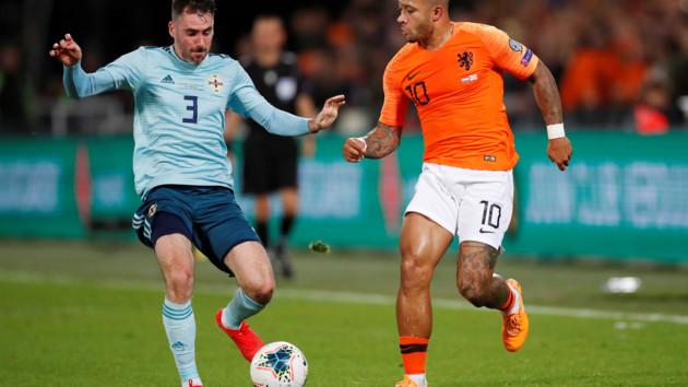 Голландия вырвала победу у Северной Ирландии
