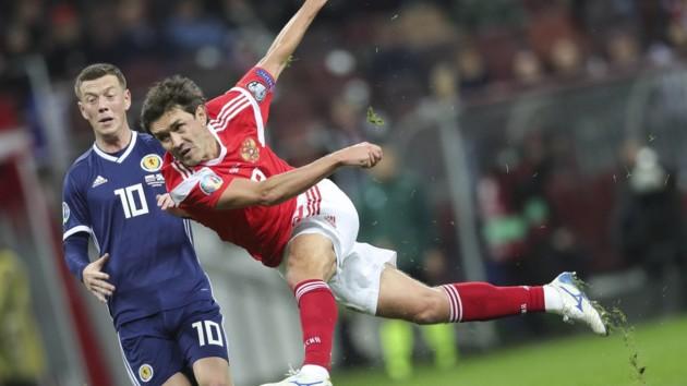 Россия разгромила Шотландию в матче отбора на Евро-2020