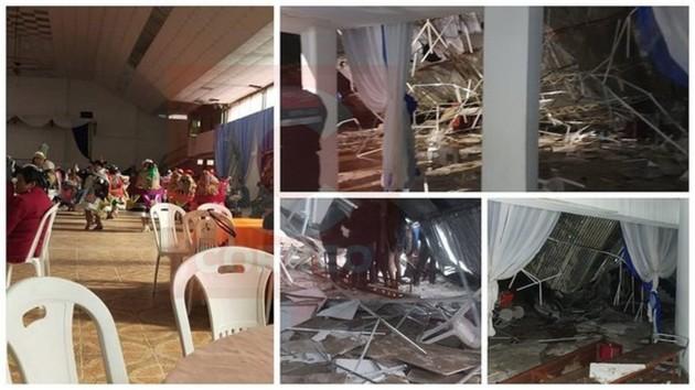 Шесть человек погибли при обрушении крыши в Перу: момент трагедии попал на видео
