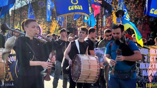 Украинские флаги и боевые волынки: как в Киеве прошел Марш УПА: опубликованы фото