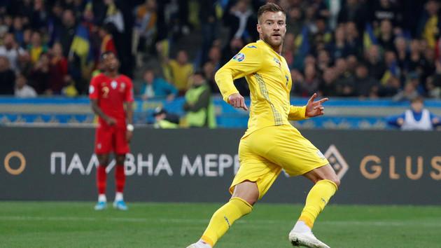 Ярмоленко забил первый гол за сборную Украины за 400 дней