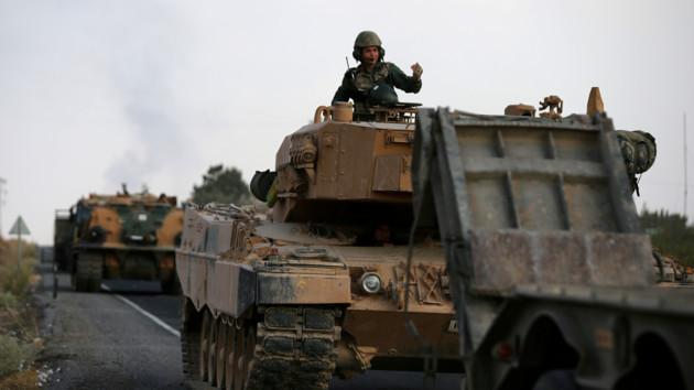 Военные Турции заняли сирийский город Рас-эль-Айн