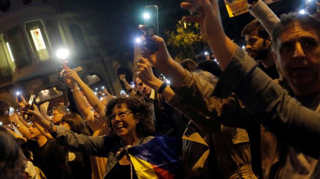 В Барселоне прошел митинг за единую Испанию