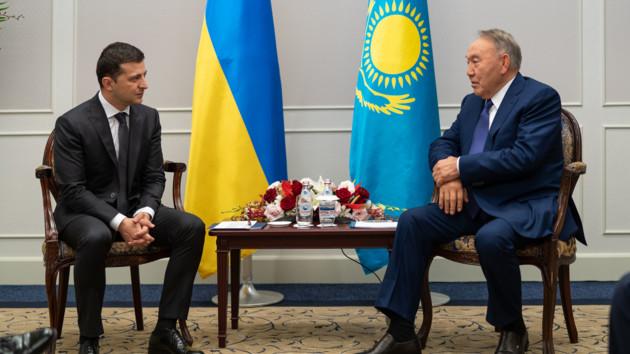 Зеленский и Назарбаев